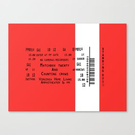 Concert Ticket - Matchbox 20 and Counting Crows Canvas Print