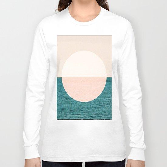 Geometric Sunset Long Sleeve T-shirt
