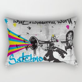 What A Wonderful World Rectangular Pillow