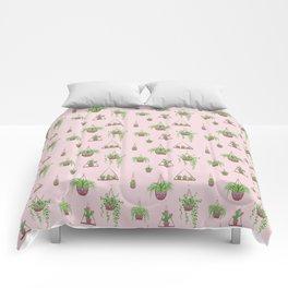 Mother, Macramé I? - Hanging Plants on Pink Comforters