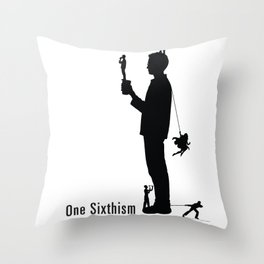 One Sixth Ism (Black Statue) Throw Pillow