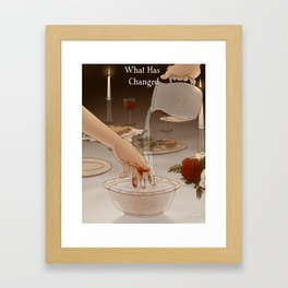 What Has Changed - Cover Framed Art Print