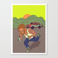 teen wolf Canvas Prints featuring Teen wolf  by Zé Burnay