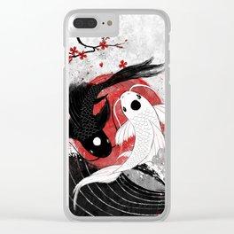 Koi fish - Yin Yang Clear iPhone Case