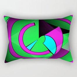 2D - abstraction -2b- Rectangular Pillow