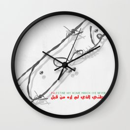 Palestine My Home Wall Clock