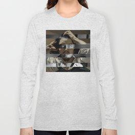 "Gustave Courbet ""The Desperate Man"" Self Portrait & James Stewart in Vertigo Long Sleeve T-shirt"
