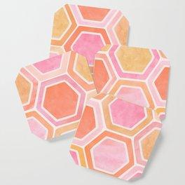 Desert Mood II - Watercolor Hexagon Pattern Coaster