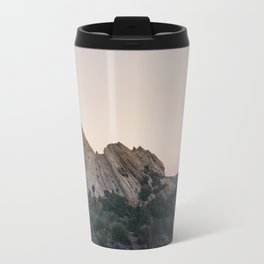 Sunset Over Desert Vasquez Rocks Travel Mug