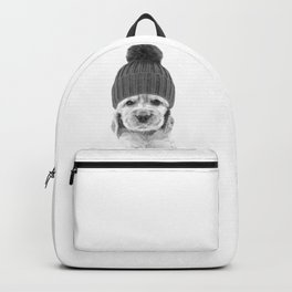 Black and White Cocker Spaniel Backpack
