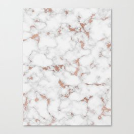 Marble Rose Gold Canvas Print