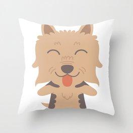 Silky Terrier Gift Idea Throw Pillow