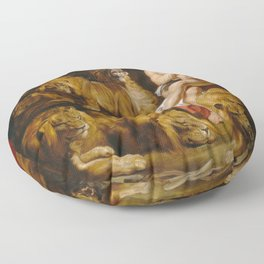 Daniel in the Lions' Den by Peter Paul Rubens Floor Pillow
