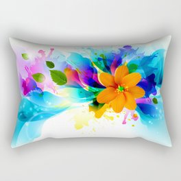 Chilly Flower Rectangular Pillow