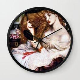 Lady Lilith - Dante Gabriel Rossetti Wall Clock