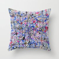 trip Throw Pillows featuring TRIP by Art Book Of  Amanda
