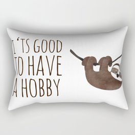 sweet little sloth /Agat/ Rectangular Pillow