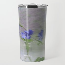 Periwinkle in vial Art Travel Mug