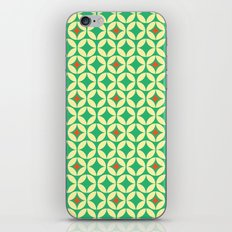 Repeated Retro - green iPhone & iPod Skin