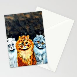 """Louis Wain's Cats """"Five Cats"""" Stationery Cards"""