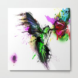 Colorful Honeybird Abstract Metal Print