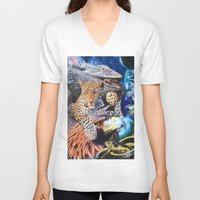 cookie V-neck T-shirts featuring Cookie by John Turck