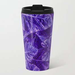Purple Tropical Layered Leaves Travel Mug