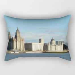 Liverpool Waterfront (Digital Art) Rectangular Pillow