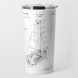 patent art Court Sailboat 1964 Travel Mug