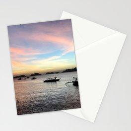 El Nido vivid sunset Stationery Cards
