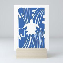 Save The Sea Turtles Mini Art Print