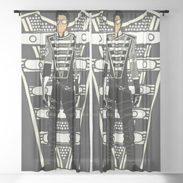 HIStory Promo Military March Jackson 2 Sheer Curtain