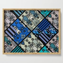 rustic patchwork 2 Serving Tray