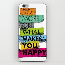 Quote of the day iPhone Skin