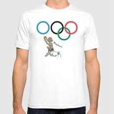 The Ring SMALL Mens Fitted Tee White