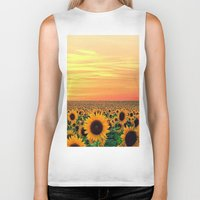 sunflower Biker Tanks featuring Sunflower by Don't Be A Dick