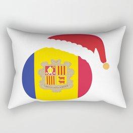 Andorra Christmas sant claus flag designs  Rectangular Pillow