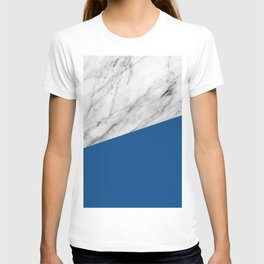 Marble and Lapis Blue Color T-shirt