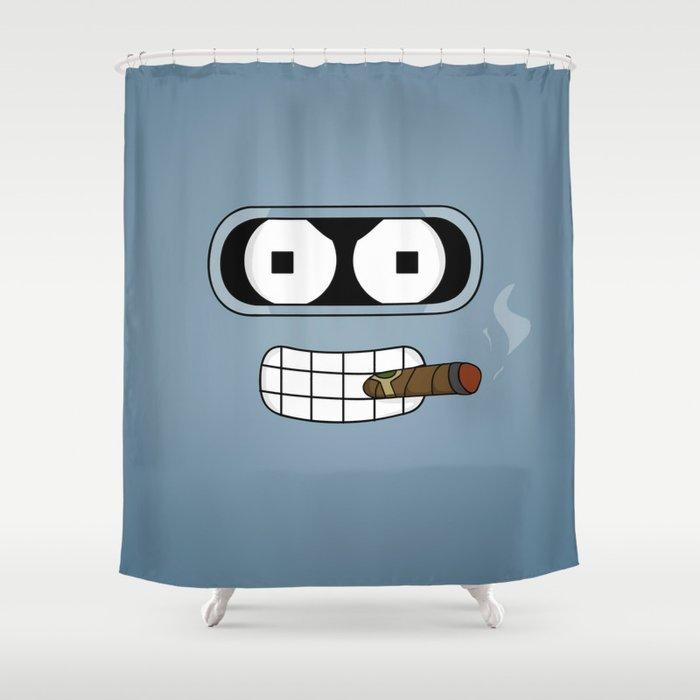 Bender Robot Shower Curtain