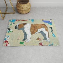 English Bulldog Abstract Art Rug