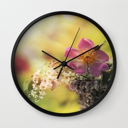 Lovely flowerbouquet in a special light- Rose Roses Wall Clock