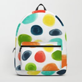 Cobblestone Watercolor Abstract Backpack