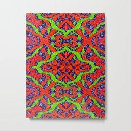 Fluoro Snake Pattern Metal Print
