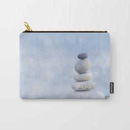 Balanced Zen Pebble Stack Blue Light Carry-All Pouch