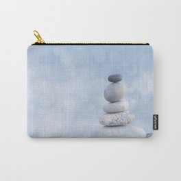 Balanced Zen Pebble Stack Blue Light Carry-All Pouch