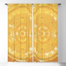 Yellow Monterey Mandala Blackout Curtain