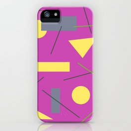 Geometry on Pink iPhone Case