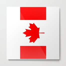 Canadian Flag (Canada) Metal Print