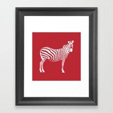 Big Red Zebra Framed Art Print