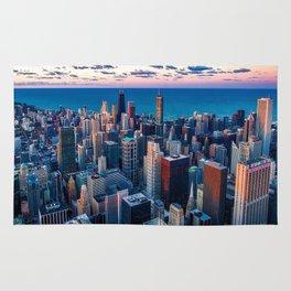 Chicago Skyline Sundown Rug